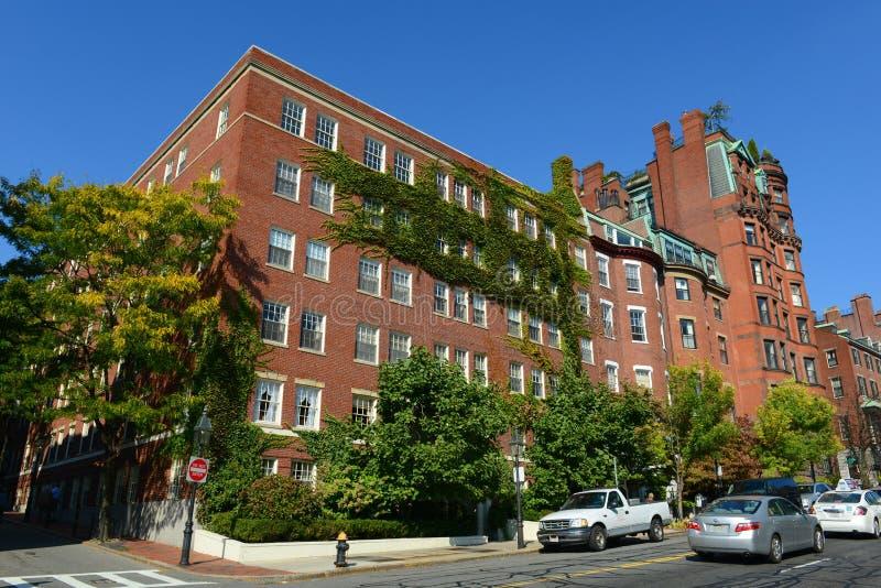 Boston historiska byggnader, Massachusetts, USA arkivbilder