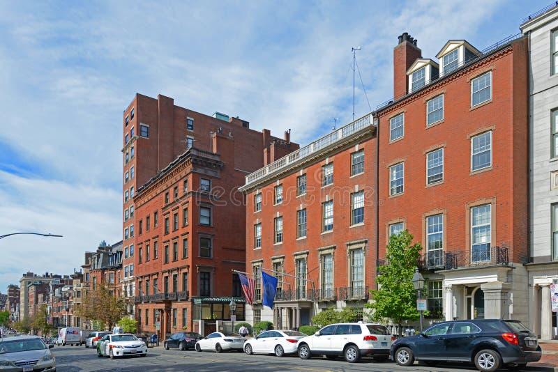 Boston historiska byggnader, Massachusetts, USA royaltyfri fotografi
