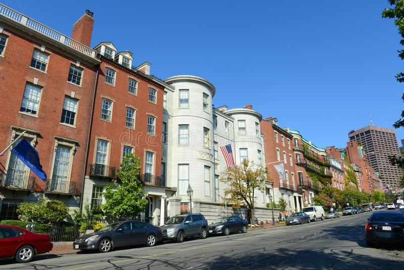 Boston historiska byggnader, Massachusetts, USA royaltyfri foto