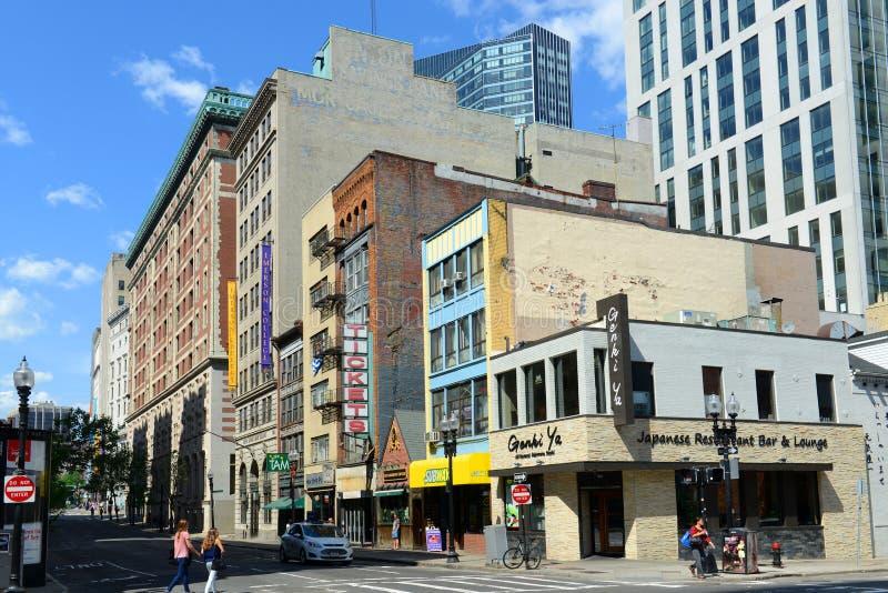 Boston historiska byggnader, Massachusetts, USA royaltyfria foton