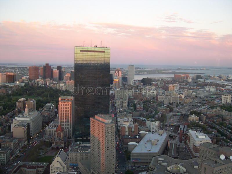 Boston horisont royaltyfri foto