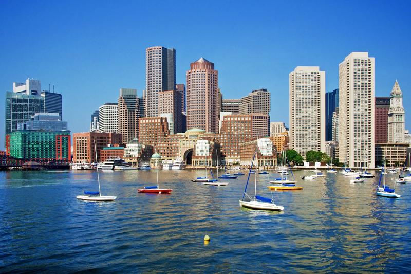 Boston horisont fotografering för bildbyråer