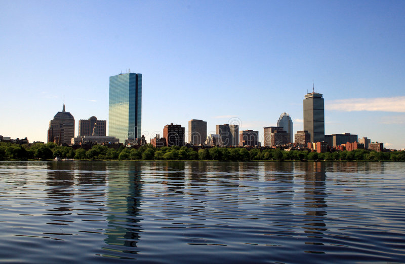 boston horisont royaltyfria foton