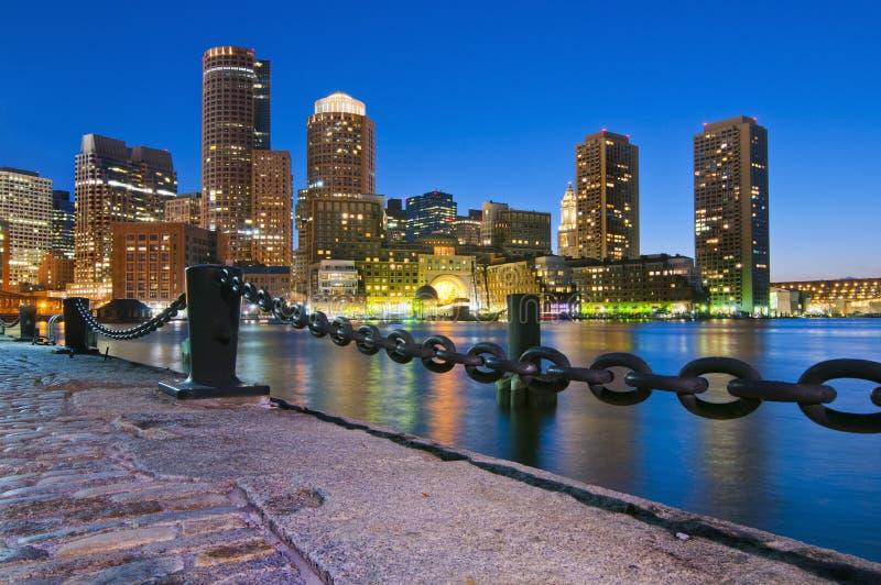 Boston horisont arkivfoto