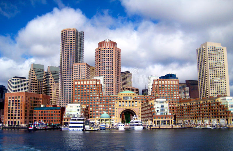Boston horisont royaltyfria bilder