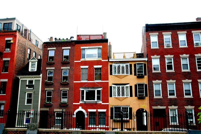 Boston houses stock photo