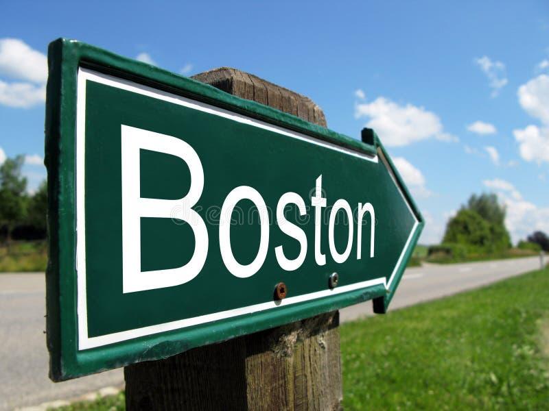 BOSTON kierunkowskaz zdjęcia royalty free