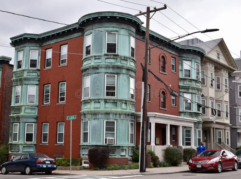 Boston 3 lägenhet royaltyfria foton