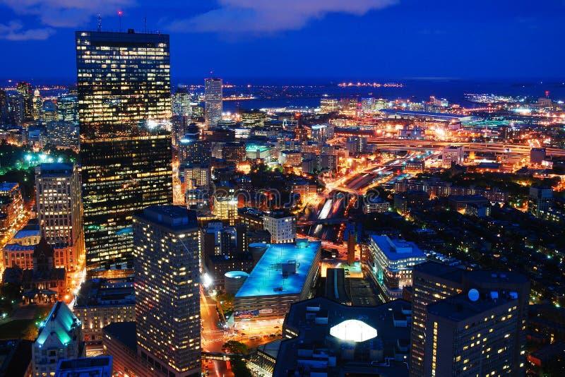 Boston la nuit photographie stock libre de droits
