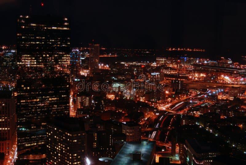 Boston la nuit photos libres de droits
