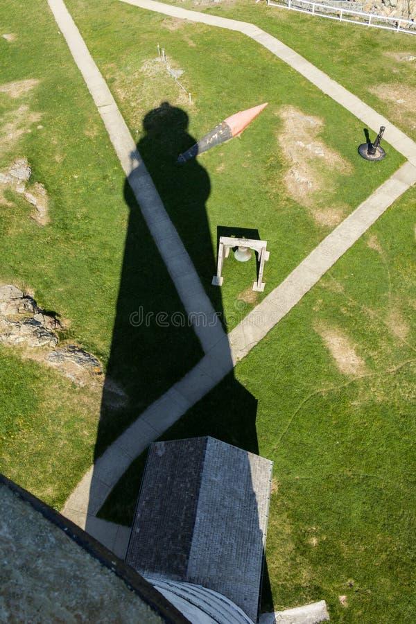Boston-Leuchtturmschatten, wie von der Spitze gesehen stockfotos