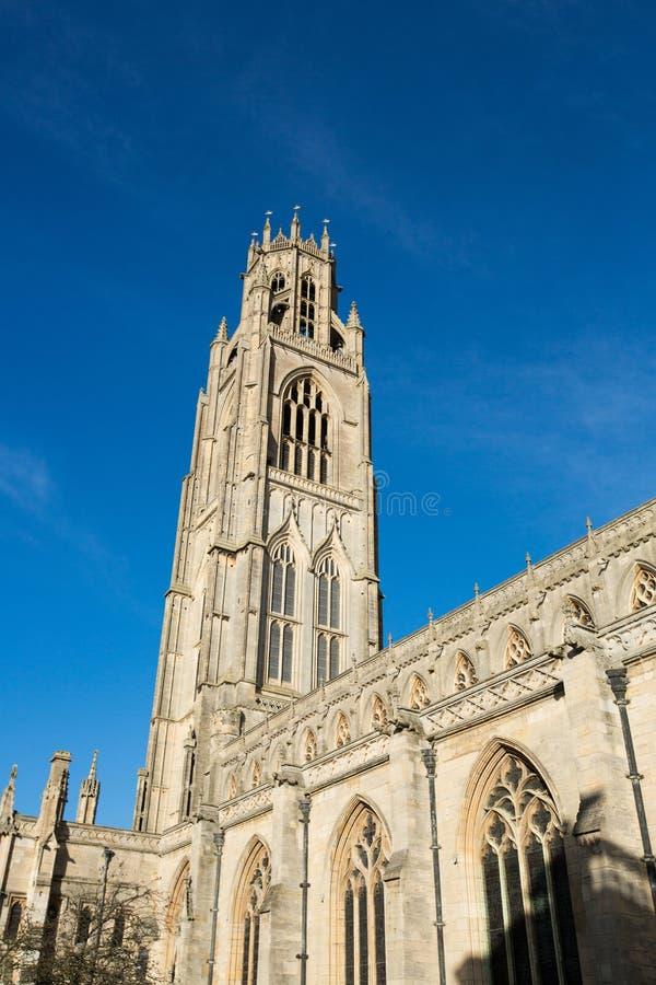 Boston, Lincolnshire, Kingdrom unido, el 19 de octubre de 2014, iglesia de Botolphs del santo fotografía de archivo libre de regalías