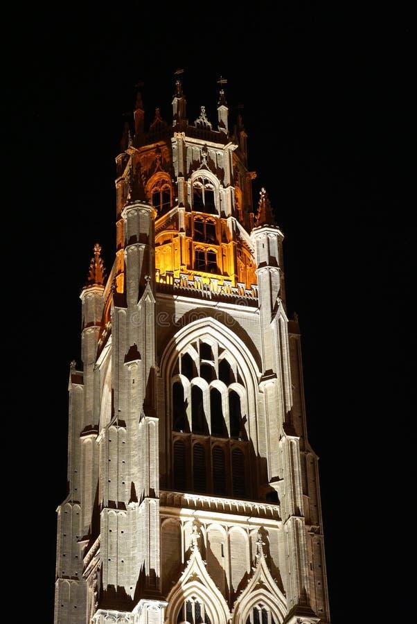 Boston, Lincolnshire, Verenigde Kingdrom, 19 Oktober 2014, de Kerk van Heilige Botolphs die ook plaatselijk als stomp wordt geken stock fotografie