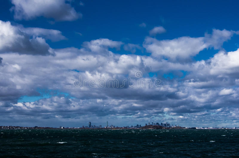Boston linia horyzontu od Quincy obraz royalty free