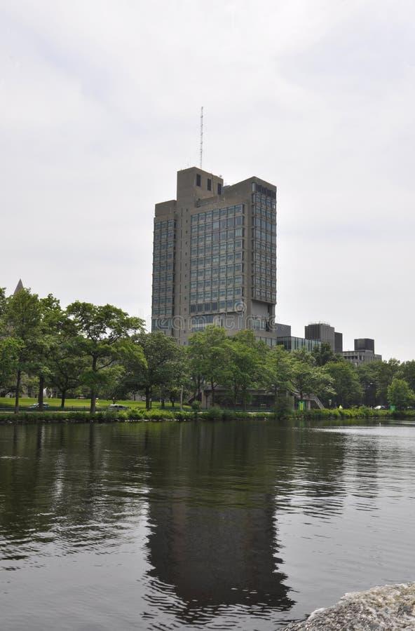 Boston linii horyzontu widok od Charles rzeki w Boston Massachusettes stanie usa obraz royalty free