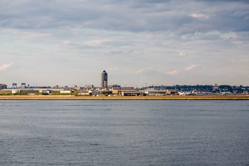 Boston Logan Airport Across Harbor foto de stock