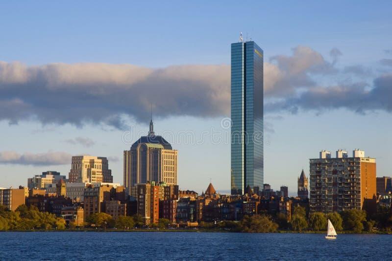 Boston lungo il fiume di Charles fotografia stock libera da diritti