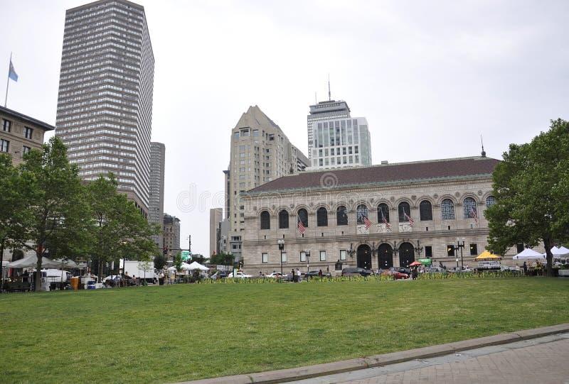 Boston mA, il 30 giugno: Biblioteca pubblica nel quadrato di Copley da Boston nello stato di Massachusettes di U.S.A. immagini stock libere da diritti