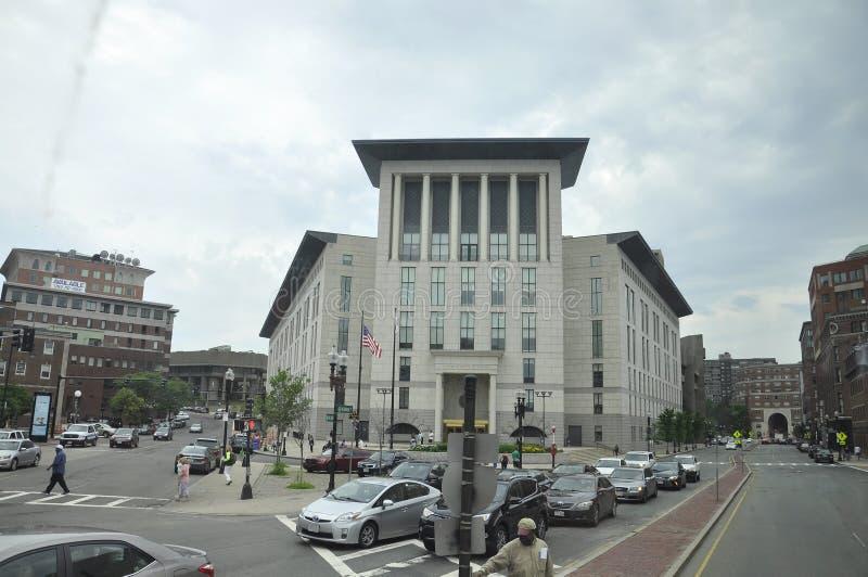 Boston mA, le 30 juin : Bâtiments de Brooke Courthouse de Boston dans l'état de Massachusettes des Etats-Unis images libres de droits