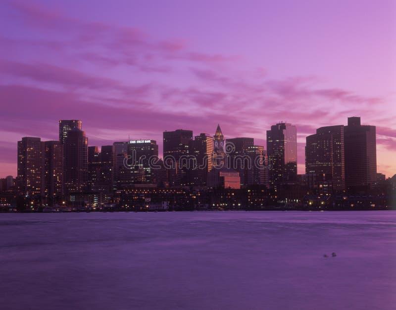 Boston, MA linia horyzontu obrazy stock