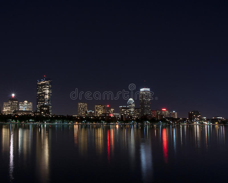 Boston MA linia horyzontu fotografia royalty free