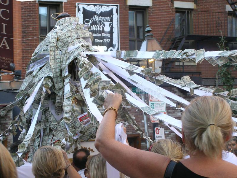 Boston, MA, USA, August 28, 2012: Saint Anthony`s Feast The Nort. H End of Boston royalty free stock photography