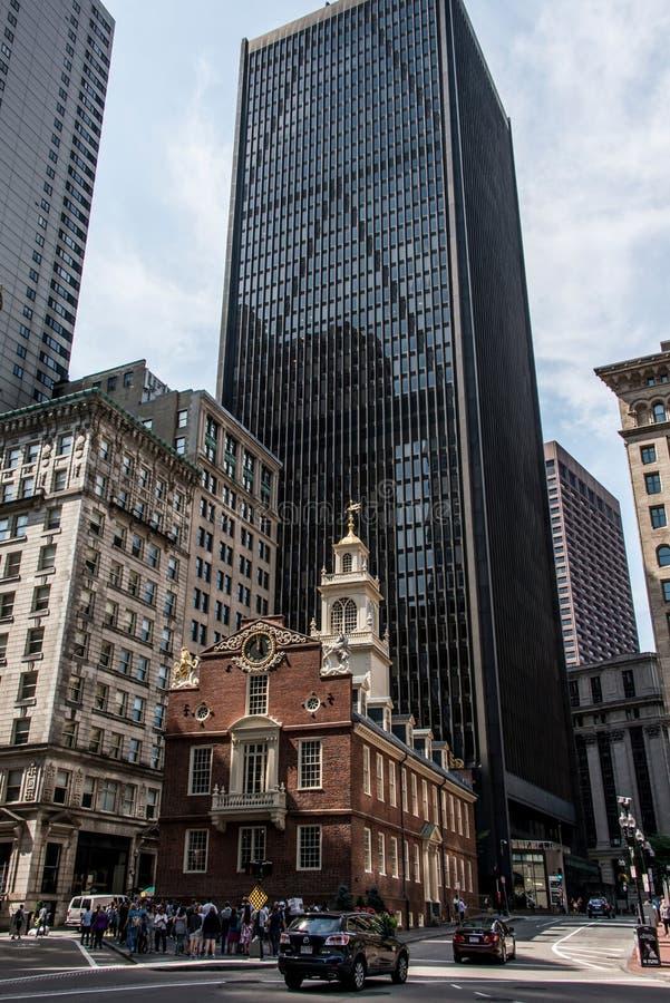 Boston, MA, USA 06 09 Des Überlebenöffentlichen gebäudes des alten bezirkes des Parlamentsgebäudes 2017 im Stadtzentrum gelegenen stockbild