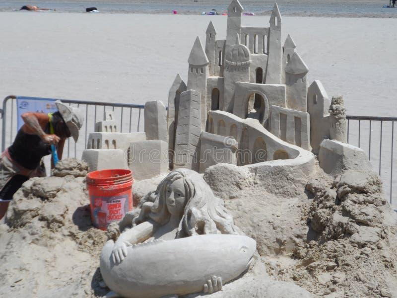 Revere Beach National Sand Sculpting Festival. Boston, MA/USA-July 19 2013-Revere Beach National Sand Sculpting Festival stock photography