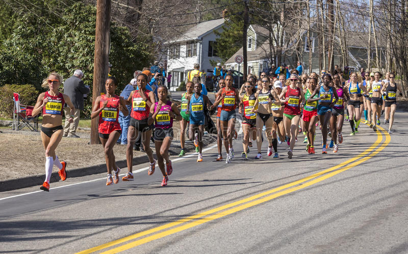 Download The Boston Marathon 2014 editorial stock image. Image of footrace - 40196414