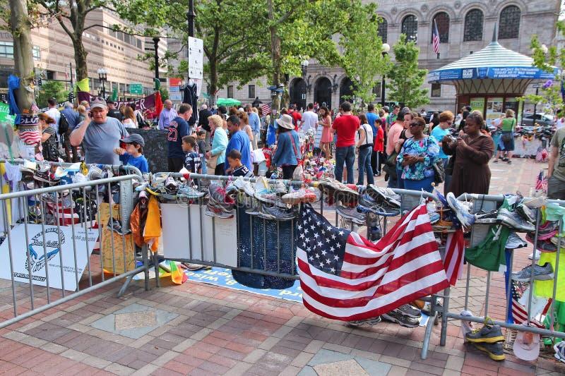 Boston-Marathondenkmal stockbilder