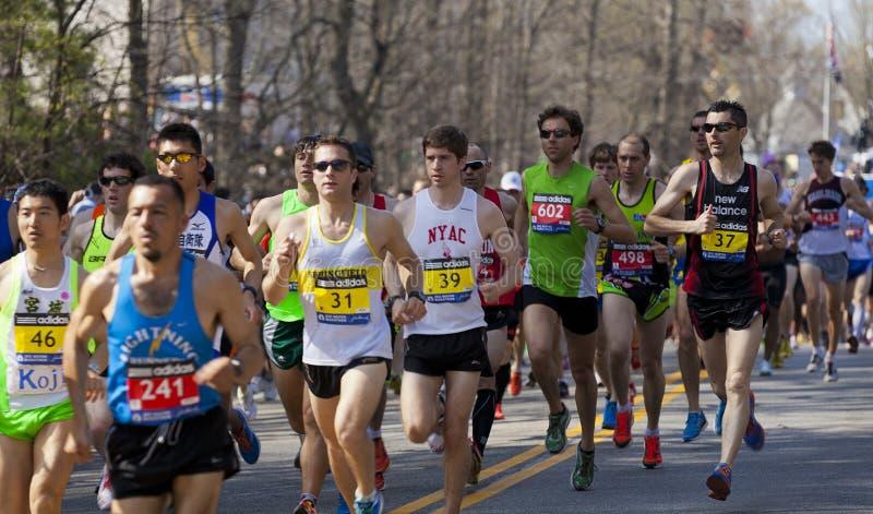 boston maraton arkivfoton