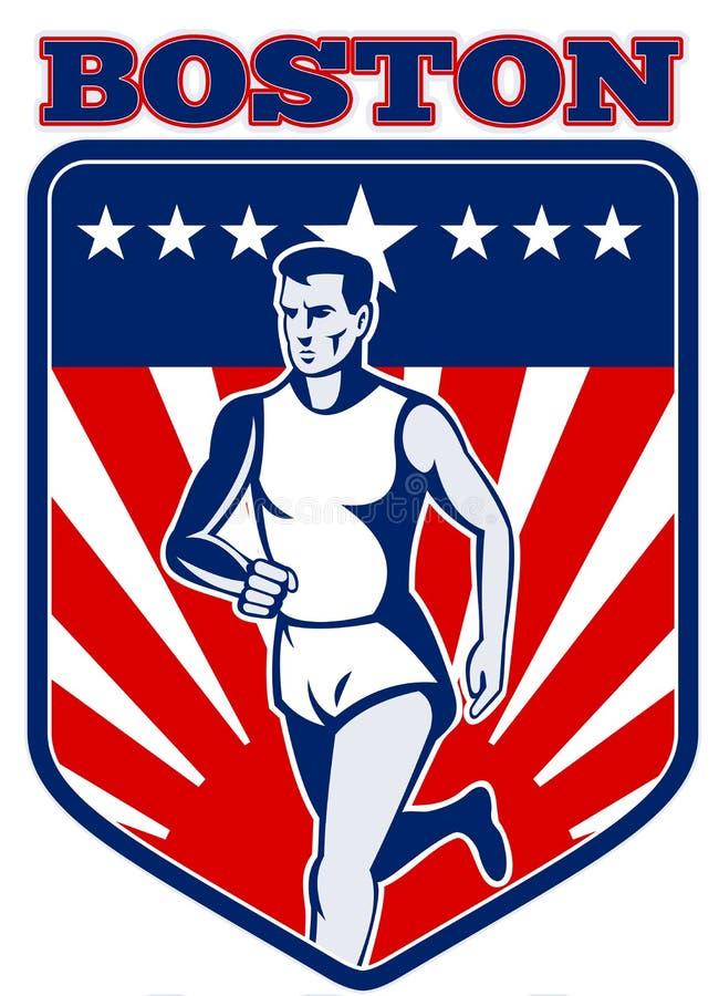 Boston Maratonlöpare Royaltyfria Bilder