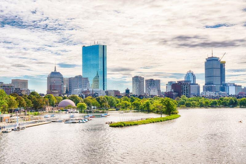 Boston, Massachusetts City Skyline royalty free stock image