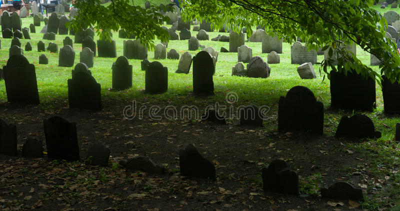 Boston, Massachusetts, Getreidespeicher-Friedhof stockfoto