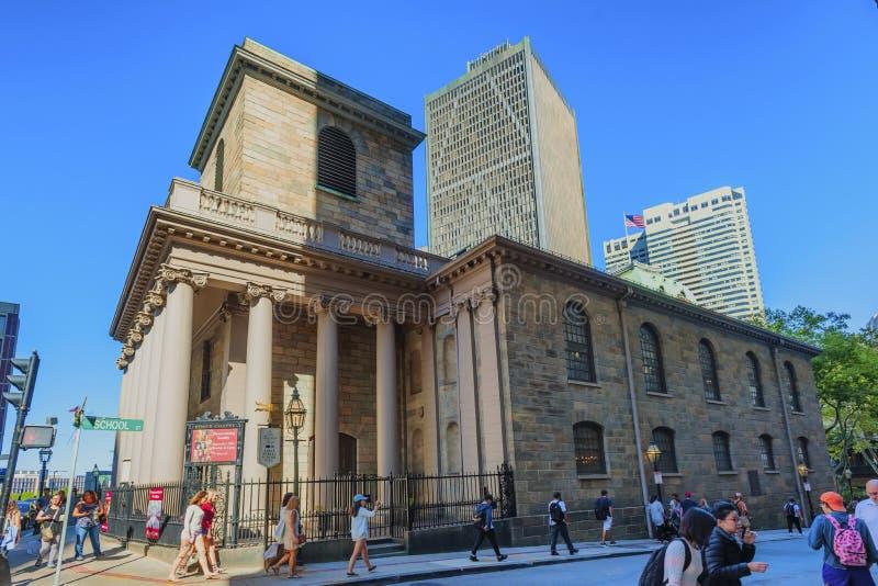 Boston Massachusetts Kings Chapel royalty free stock images