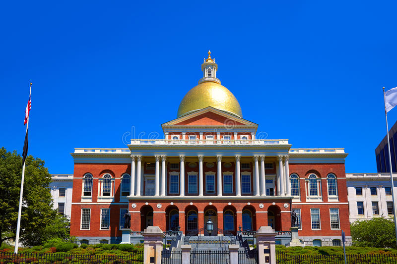 Boston Massachusetts State House golden dome royalty free stock images