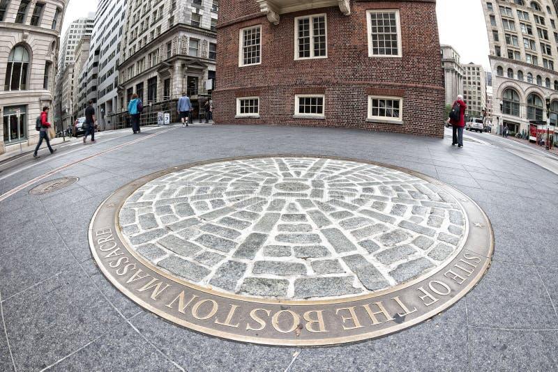 Boston-Massaker lizenzfreies stockbild