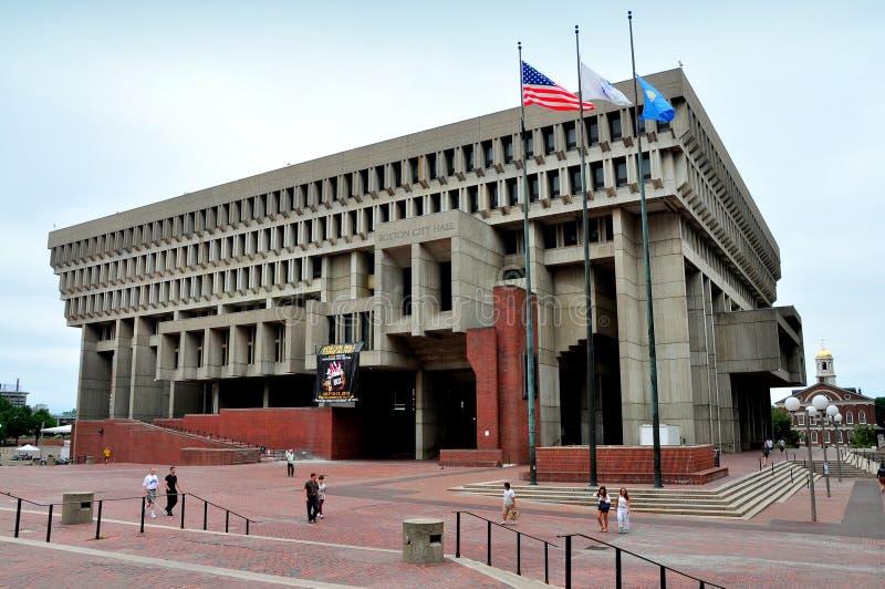Boston, miliampère: Câmara municipal de Boston fotografia de stock royalty free