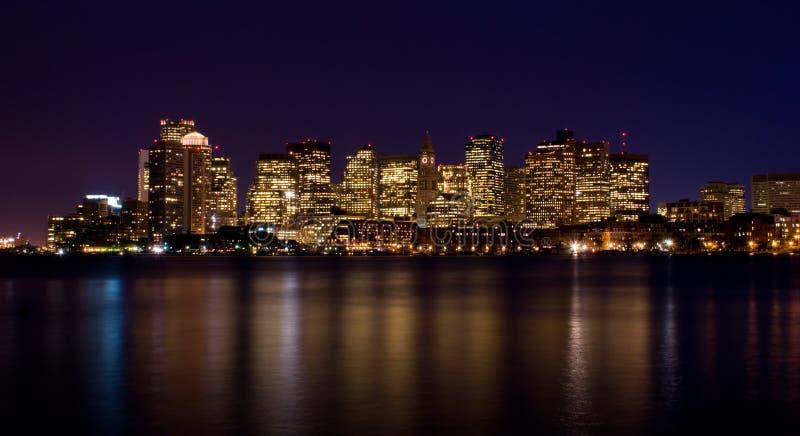 Boston nachts stockfotografie