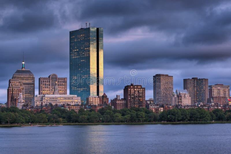 boston nad zmierzchem fotografia royalty free