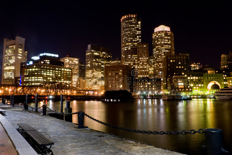 Boston at Night royalty free stock photo