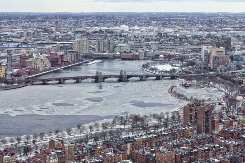 Boston no inverno fotografia de stock