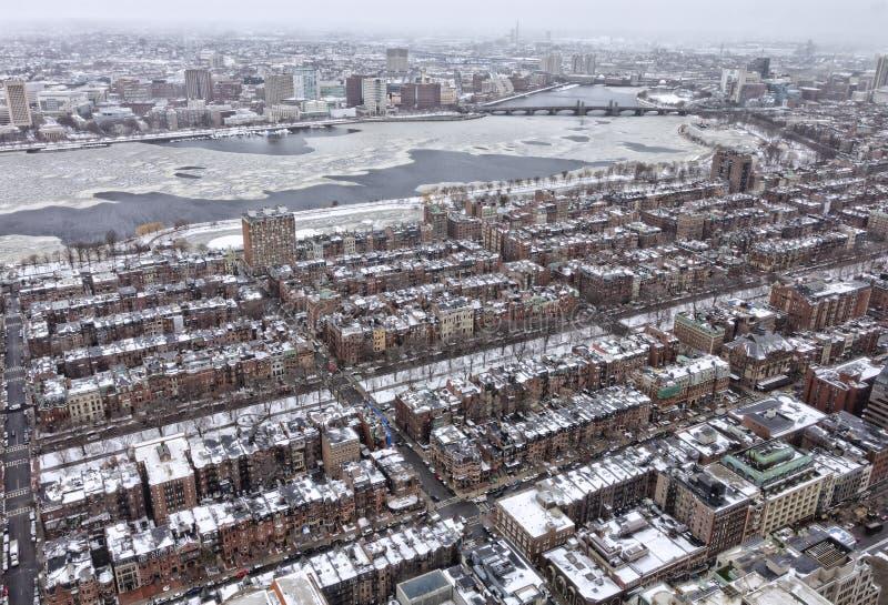 Boston no inverno imagem de stock