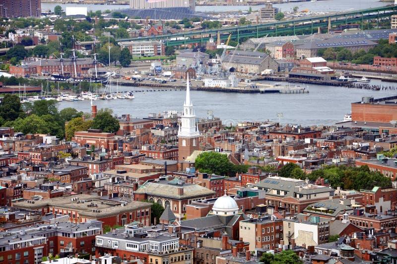 Boston-Nordende, Boston, USA stockbilder