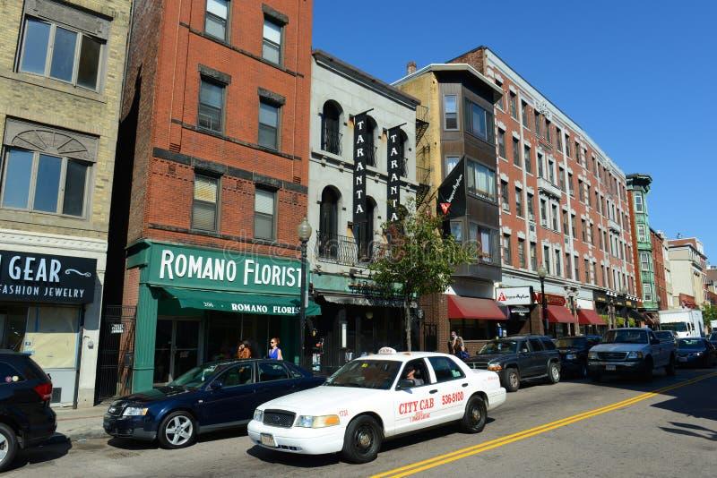 Boston North End, Massachusetts, USA stockbilder