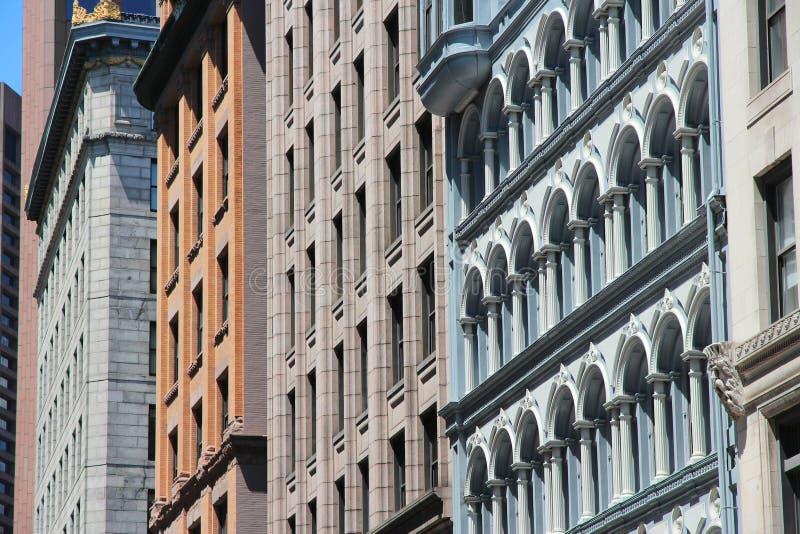 Old Boston. Boston old architecture street view. Massachusetts, United States of America royalty free stock photos