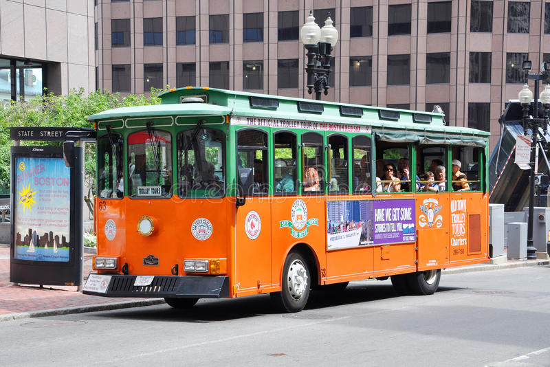 Boston Old Town Trolley Tours Editorial Image
