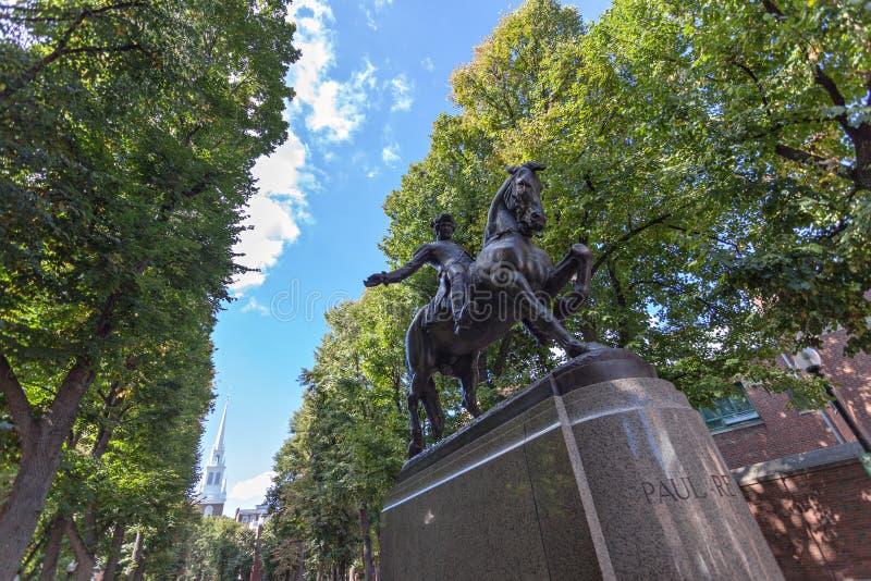 Boston Paul Revere Statue imagem de stock royalty free