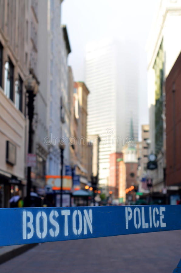 Download Boston Police Barrier stock photo. Image of crime, access - 20987882