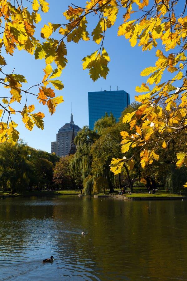 The Boston Public Garden. View of Boston Public Garden in Massachusetts, USA royalty free stock photography